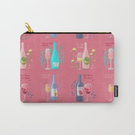 Four Wine Cats <pink> Carry-All Pouch