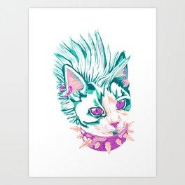 Punk Cat Art Print