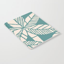 Tropical Palm Tree Composition Teal and Beige Notebook