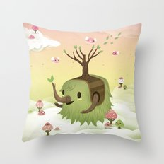 Mossiphants Throw Pillow