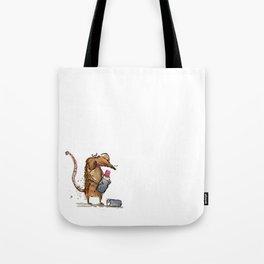 rat eating lippy Tote Bag