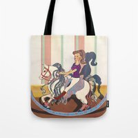 barbie Tote Bags featuring Barbie by Jane Lim illustration