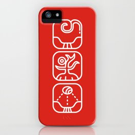 Mayan Glyphs ~ Nature iPhone Case