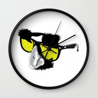 marx Wall Clocks featuring Groucho Marx by Michelle Eatough