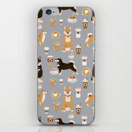 Shiba Inu coffee dog breed pet friendly pet portrait coffees pattern dogs iPhone Skin