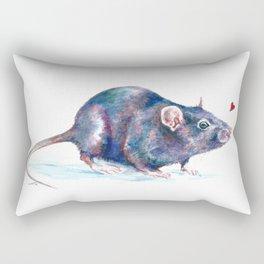 Rat love Rectangular Pillow
