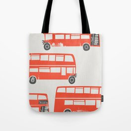 London Double Decker Red Bus Tote Bag
