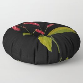 Polygonum Orientale Mary Delany Floral Paper Collage Delicate Vintage Flowers Floor Pillow