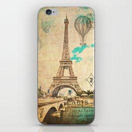 Vintage Eiffel Tower Paris iPhone Skin