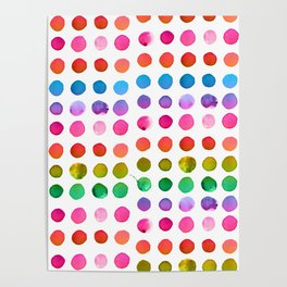 Rainbow Watercolor Poster