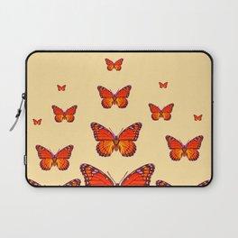 ORANGE MONARCH BUTTERFLIES CREAMY YELLOW Laptop Sleeve