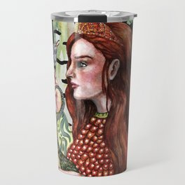 Vasilisa and her forest avatars Travel Mug