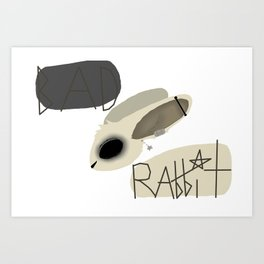 Bad Rabbit logo Art Print