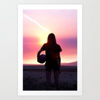 volleyball Art Prints featuring Volleyball Player by americansummers