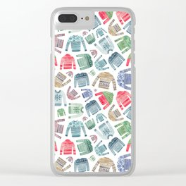 Christmas Jumpers! Clear iPhone Case