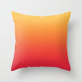 Summer Pattern Ombre Yellow Orange Red Gradient Texture Throw Pillow