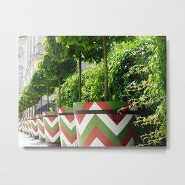 chevron flower pattern Metal Print