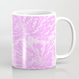 In The Pink Floral Abstract Coffee Mug