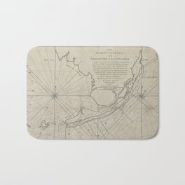 Vintage Map of The Florida Keys (1771) (2) Bath Mat
