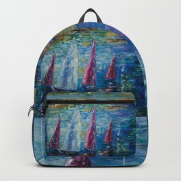 Sails To-Night by Lena Owens Backpack