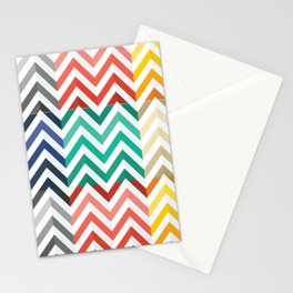 Colorful Flat Herringbone Pattern Stationery Cards