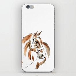 Bay Watercolour Horse iPhone Skin