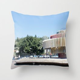 Tel Aviv photo - Dizengoff Square Throw Pillow