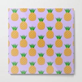 Pineapple Pattern Design Metal Print