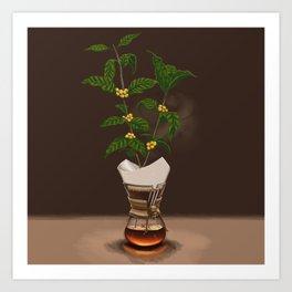 Chemex Coffee Plant Art Print