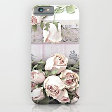 Shabby Chic Dreamy Pink Roses Cottage Floral Decor Slim Case iPhone 6s