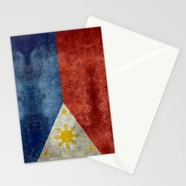 Philippines Grungy flag Stationery Cards