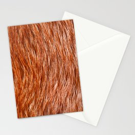 Red fox fur pelt texture cloth abstract Stationery Cards