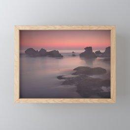 Foggy sunset. Roche Reefs. Sancti Petri. Spain Framed Mini Art Print