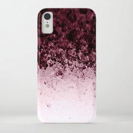 Burgundy CrYSTALS Ombre Gradient iPhone Case