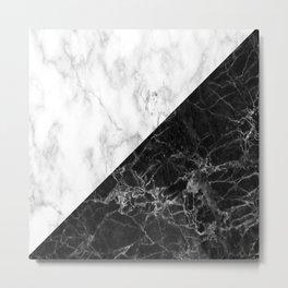 white and black marble  Metal Print
