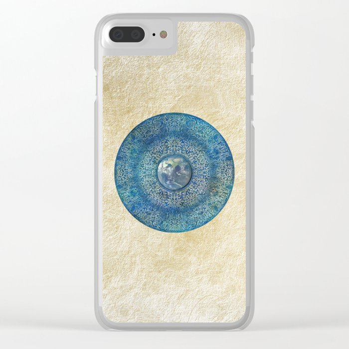 Earth Mandala Clear iPhone Case