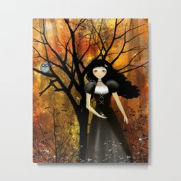 In an Autumn Forest Metal Print