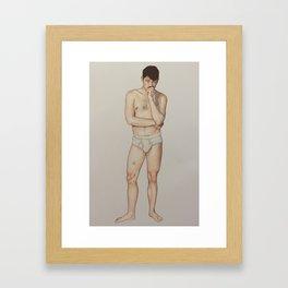 cory. Framed Art Print