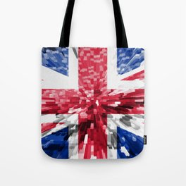 Extruded Flag of the United Kingdom Tote Bag