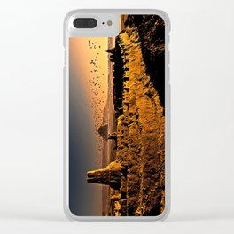 Sand Castle Clear iPhone Case