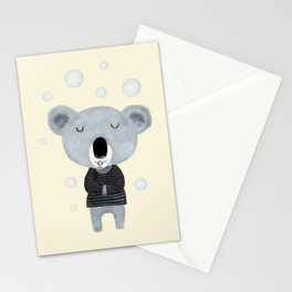 koala bubbles Stationery Cards