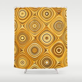 Electric Field Art XIV Shower Curtain