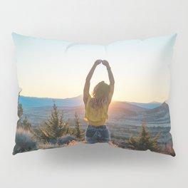 """""""Golden Hour Girl"""" - Sunset in Bend, Oregon Pillow Sham"""