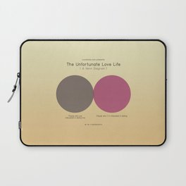 The Unfortunate Love Life (A Venn Diagram) Laptop Sleeve