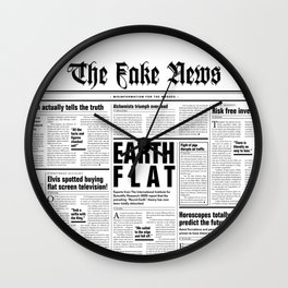 The Fake News Vol. 1, No. 1 Wall Clock
