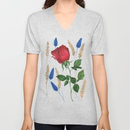 Roses and Ears Unisex V-Neck