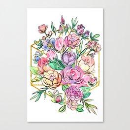 Floral Geometry Canvas Print