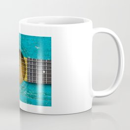 Old Vintage Acoustic Guitar with Bahamas Flag Coffee Mug