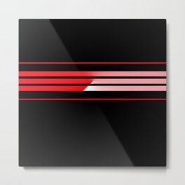 Team Colors 5...red with red Metal Print
