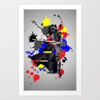 vader Art Prints featuring VADER by vicotera